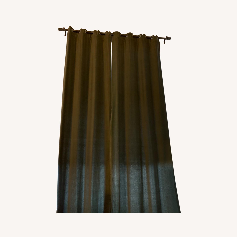 West Elm Grommet Velvet Curtains - image-0