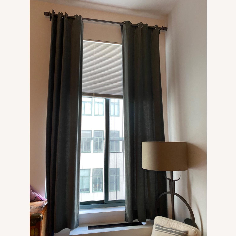 West Elm Grommet Velvet Curtains - image-1