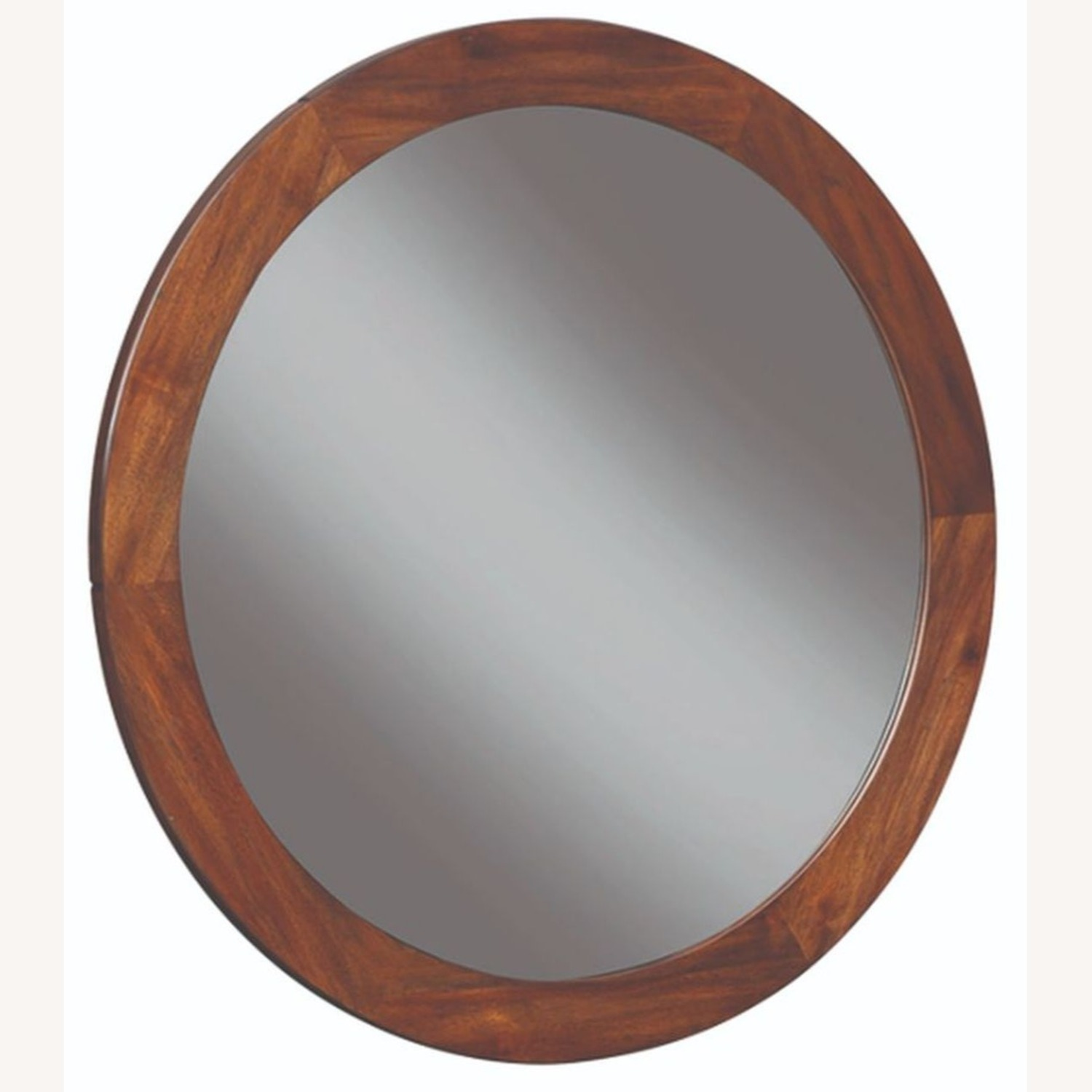 Mirror W/ Dessert Teak Wood Finish - image-0