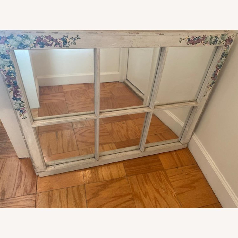Handpainted Wood Windowpane Mirror - image-3