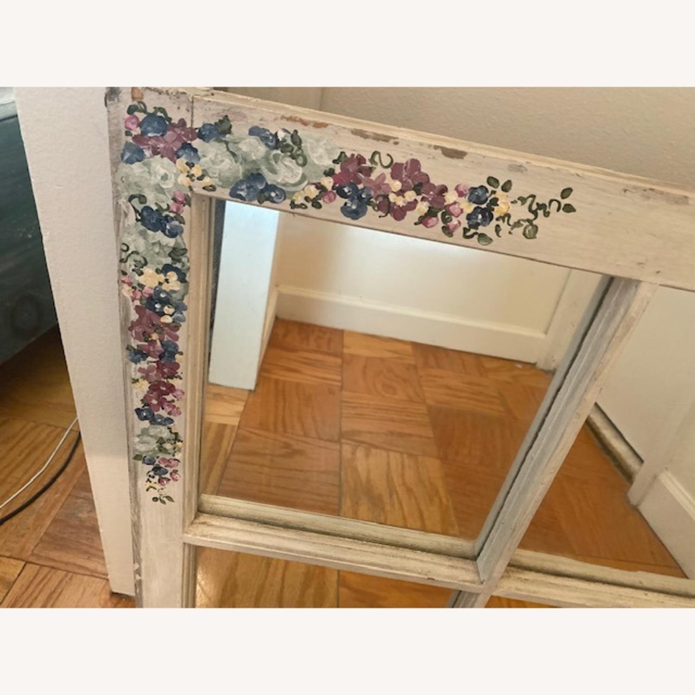 Handpainted Wood Windowpane Mirror - image-2