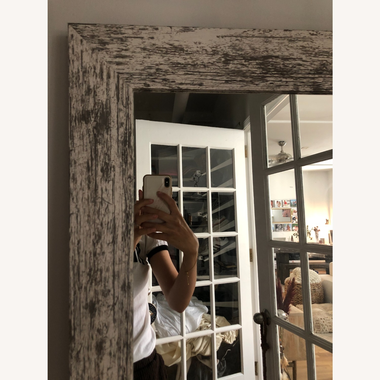 Wayfair Handcrafted Distressed Wood Floor Mirror, White - image-2