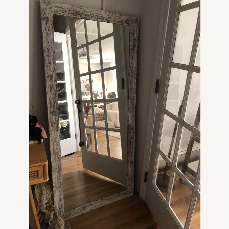 Wayfair Handcrafted Distressed Wood Floor Mirror, White - image-3