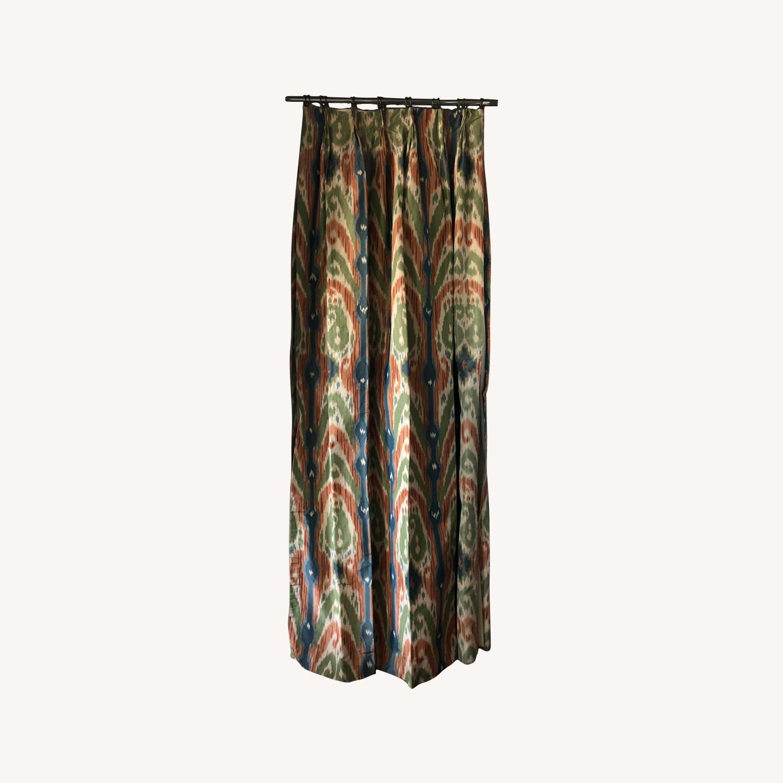 Luxury Ikat Silk Drapes - image-0