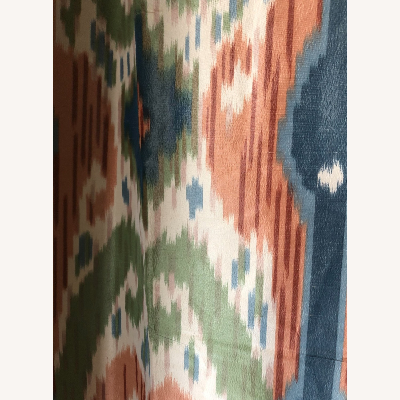Luxury Ikat Silk Drapes - image-4
