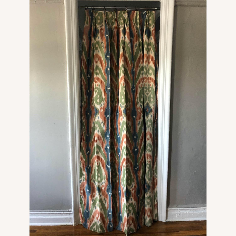 Luxury Ikat Silk Drapes - image-1