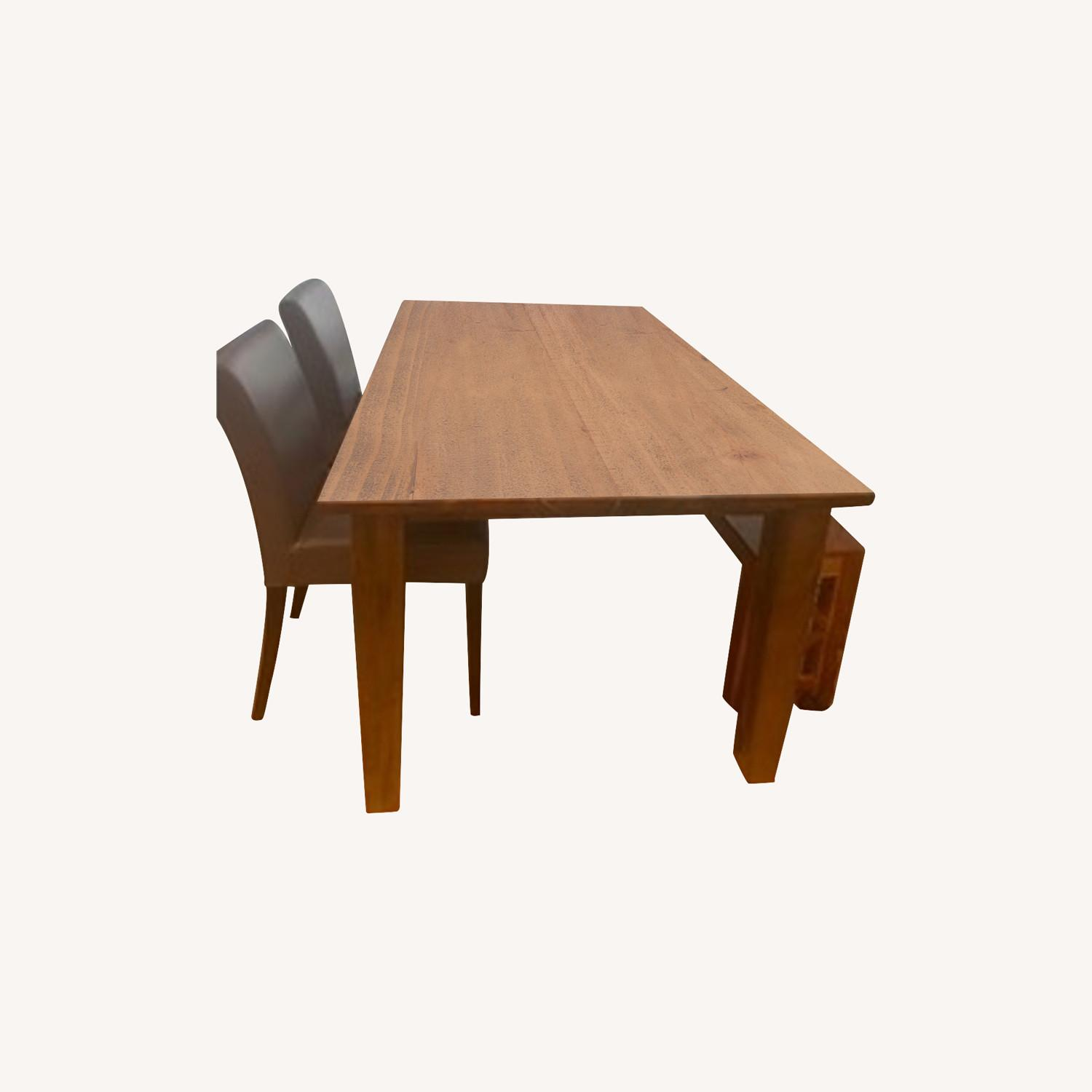 Crate & Barrel Wood Dining Table Set - image-0