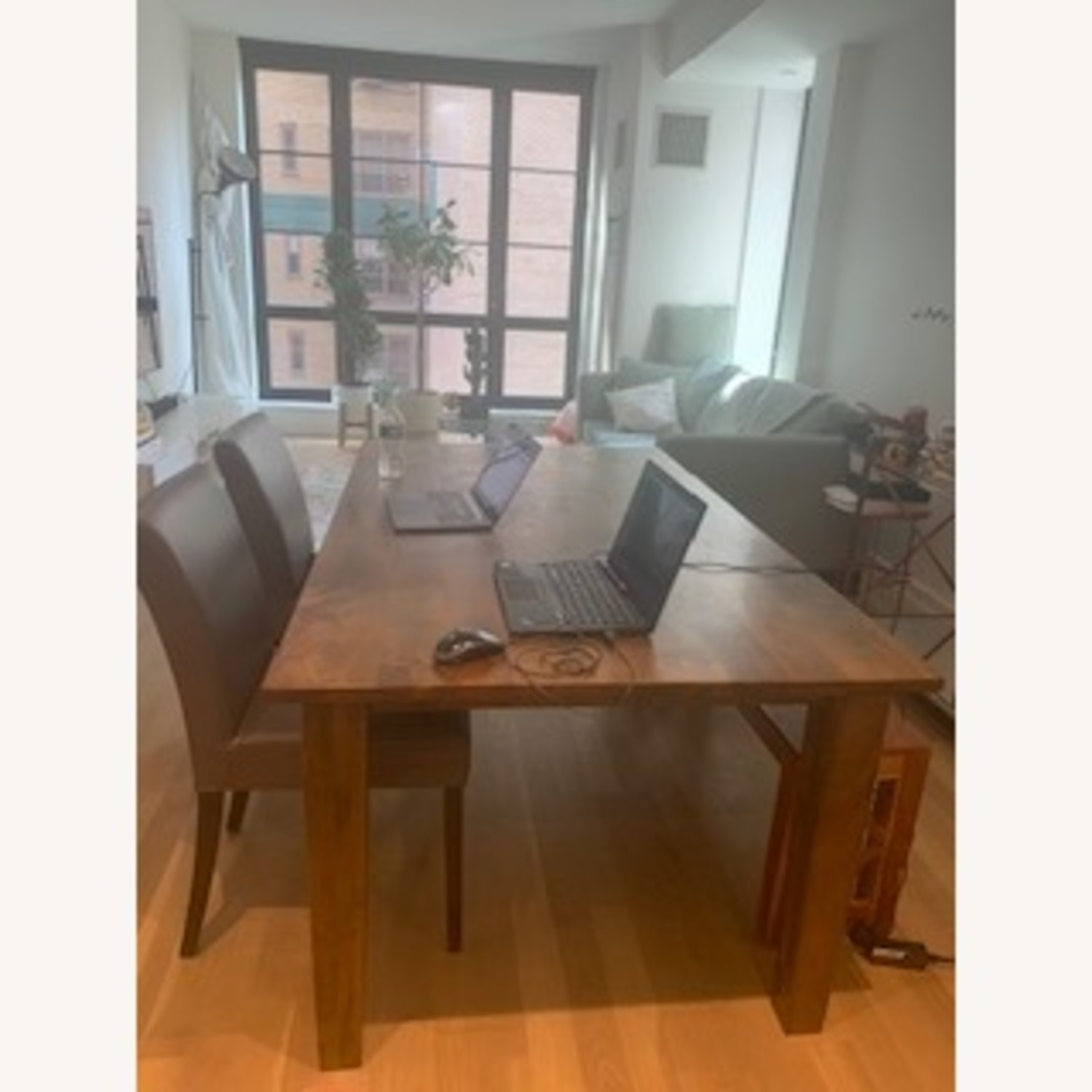 Crate & Barrel Wood Dining Table Set - image-1