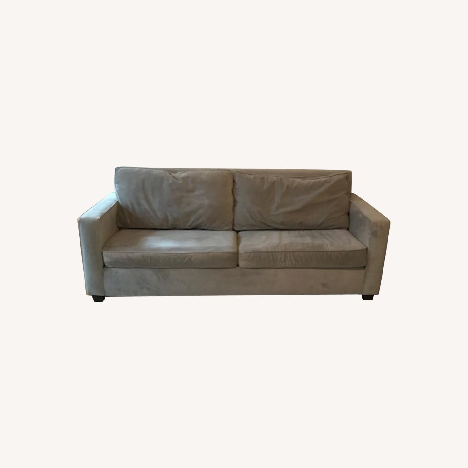 West Elm Dove Gray Henry Sofa - image-0