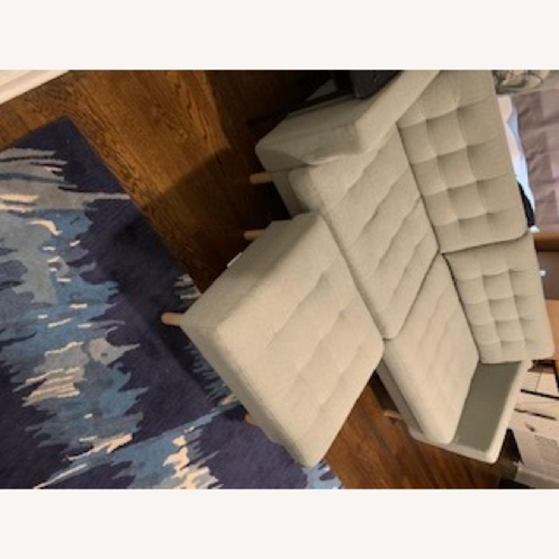 IKEA Two Seat Sofa and Ottoman - image-3