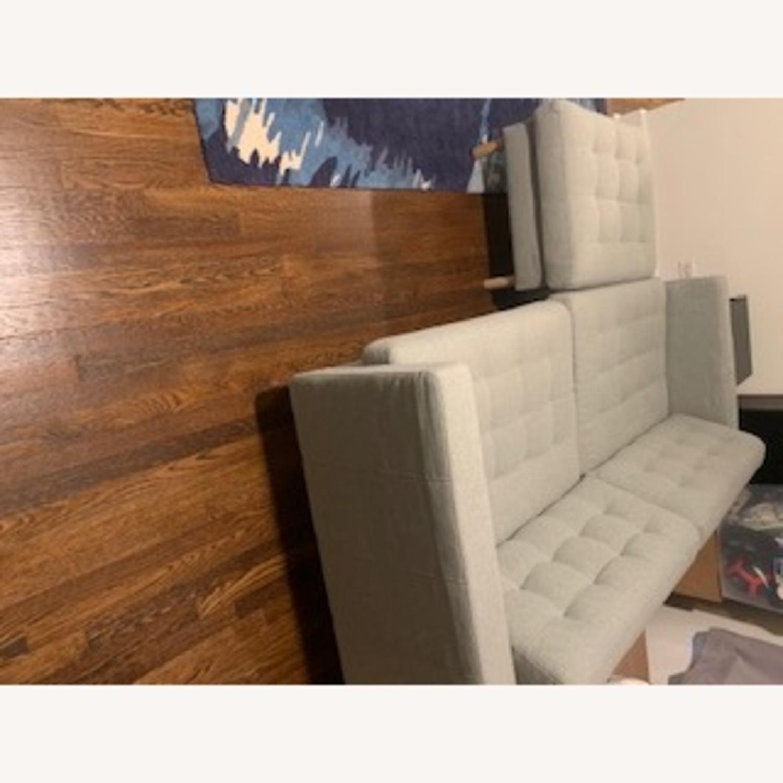IKEA Two Seat Sofa and Ottoman - image-2