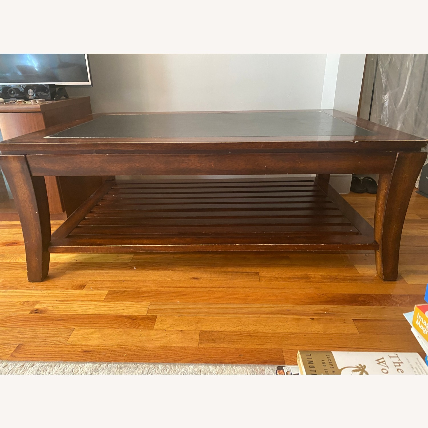 Magnussen Wood Coffee table with Slate Top - image-5