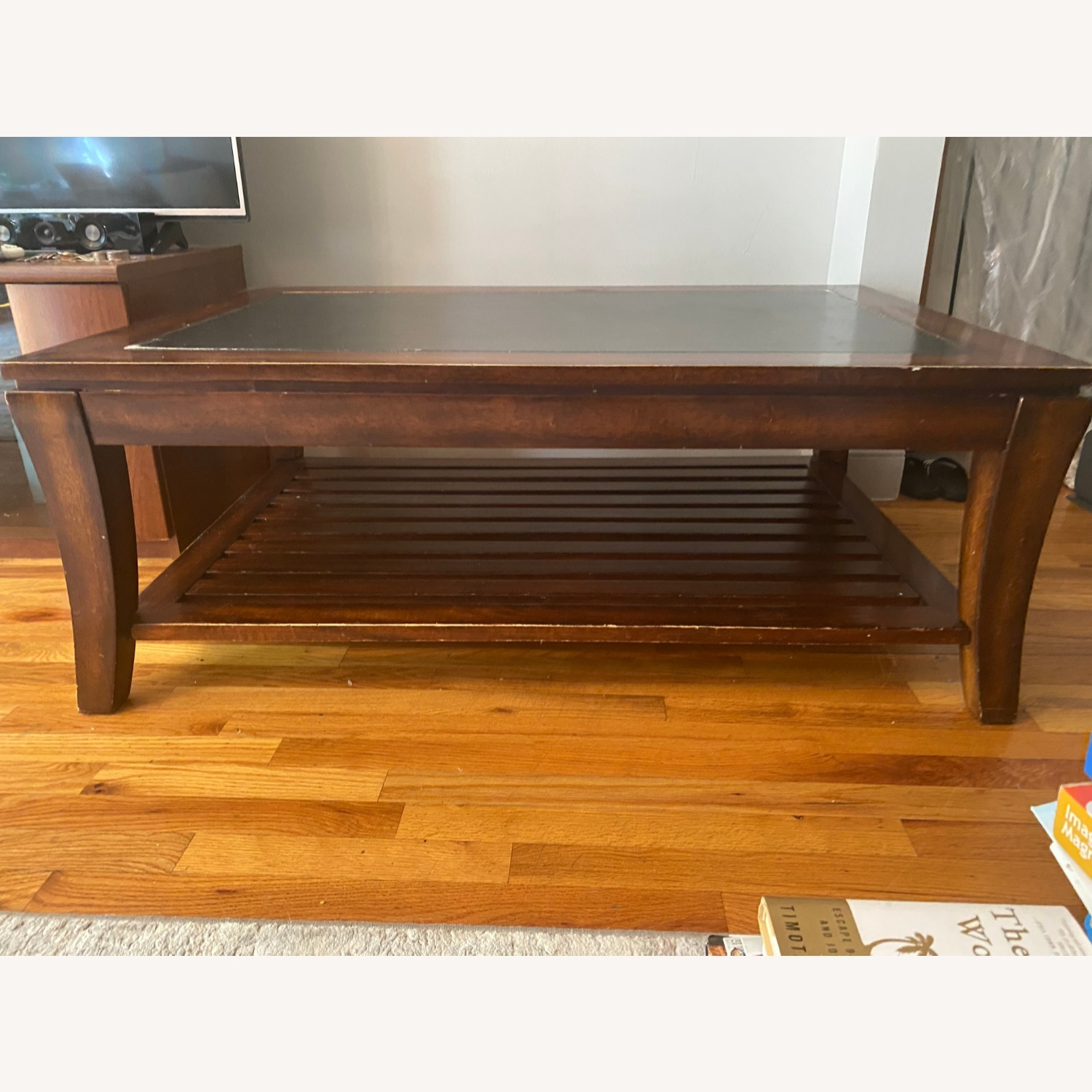 Magnussen Wood Coffee table with Slate Top - image-6
