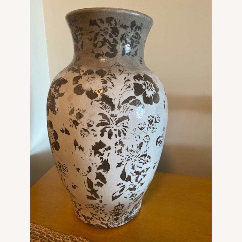 Pottery Barn Handpainted Large Vase - image-2