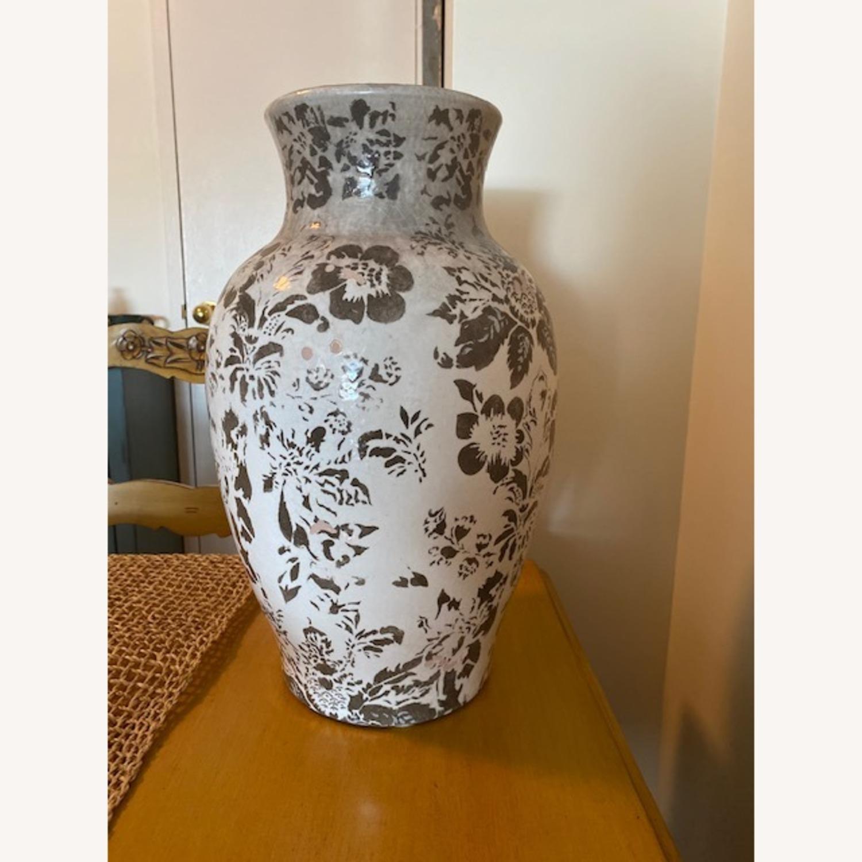 Pottery Barn Handpainted Large Vase - image-1