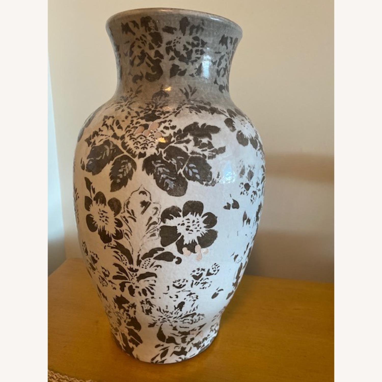 Pottery Barn Handpainted Large Vase - image-3