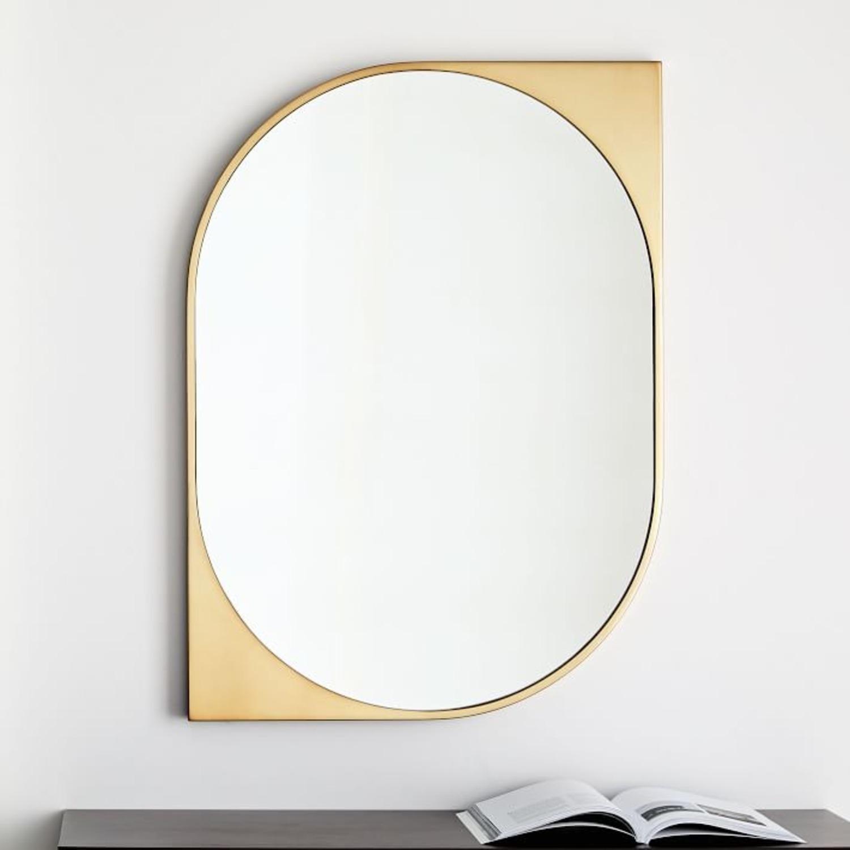 West Elm  Cateye Metal Wall Mirror - image-0