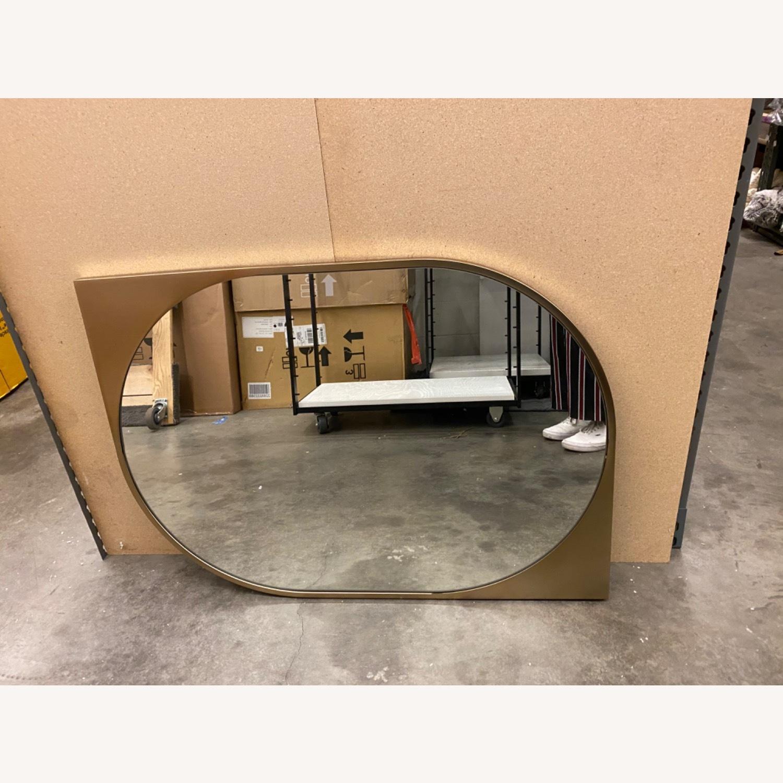 West Elm  Cateye Metal Wall Mirror - image-5