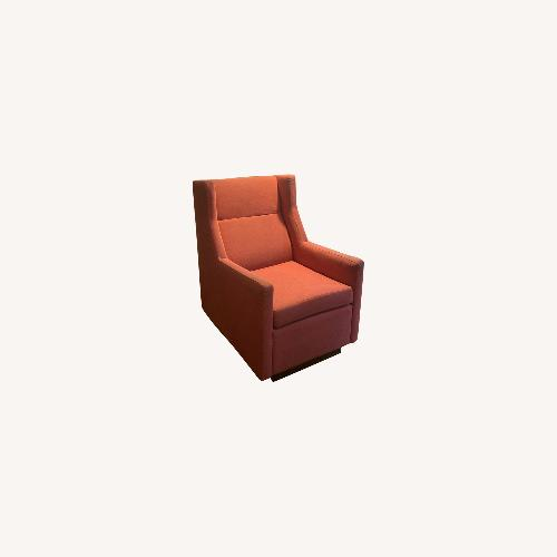Used Gus Modern Brick Red Fabric Rocking Chair for sale on AptDeco