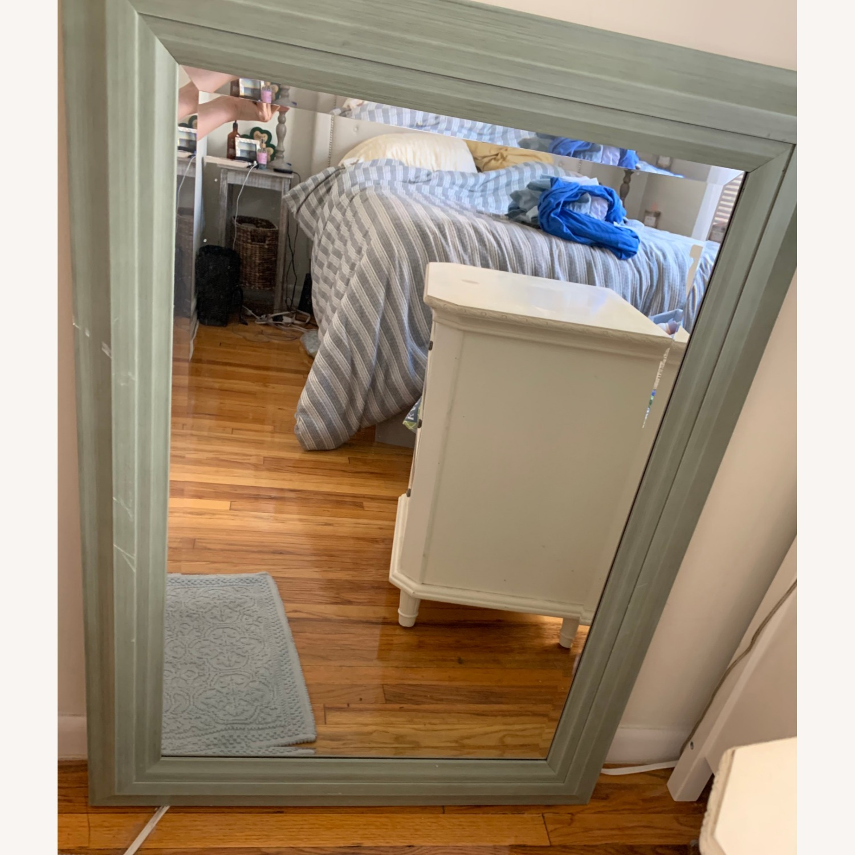 Large Green Wood Mirror - image-1