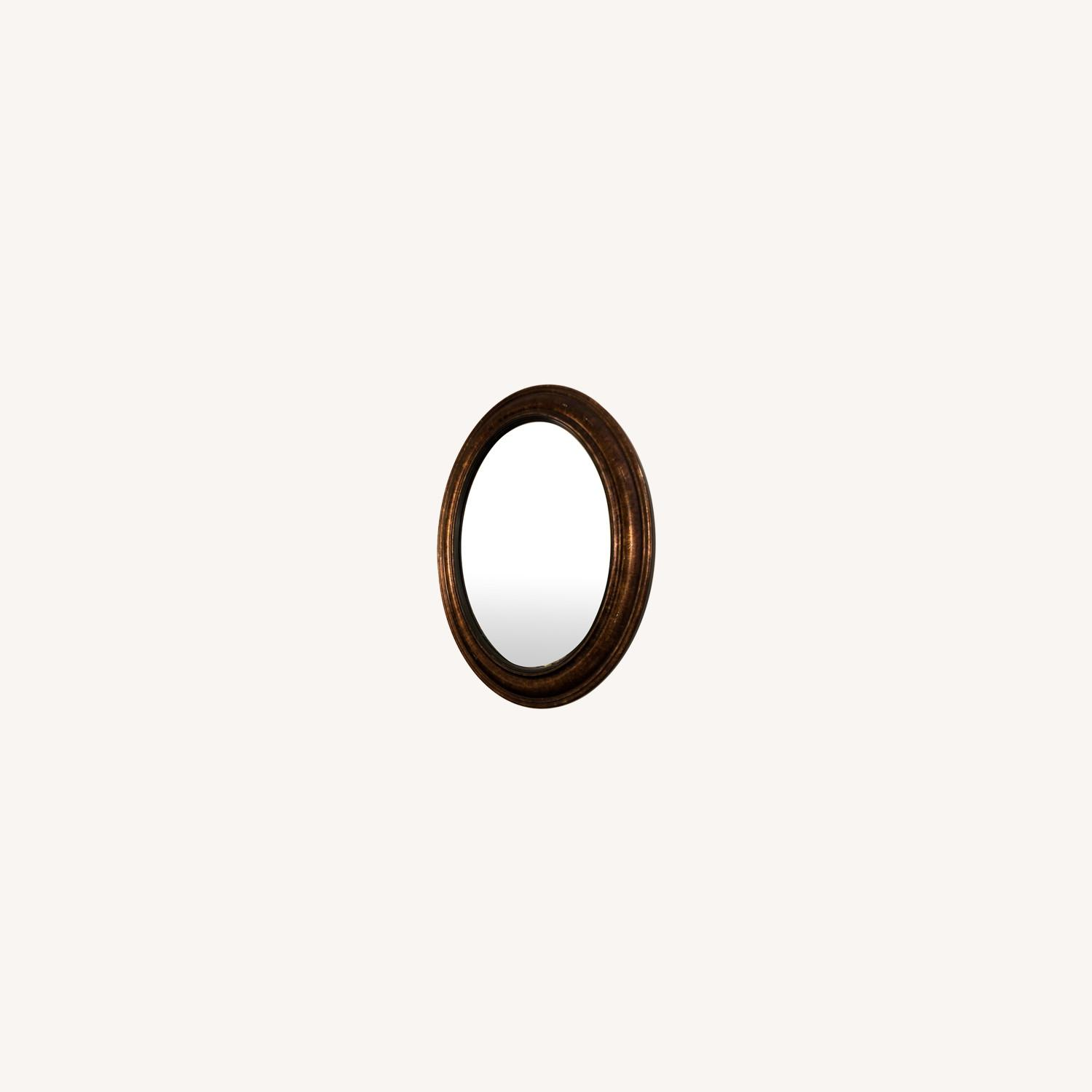 Brown Oval Mirror - image-0