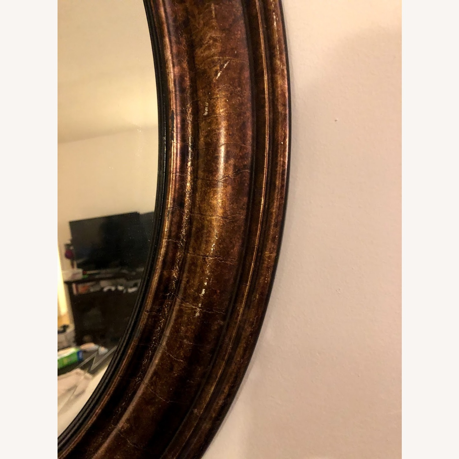 Brown Oval Mirror - image-3