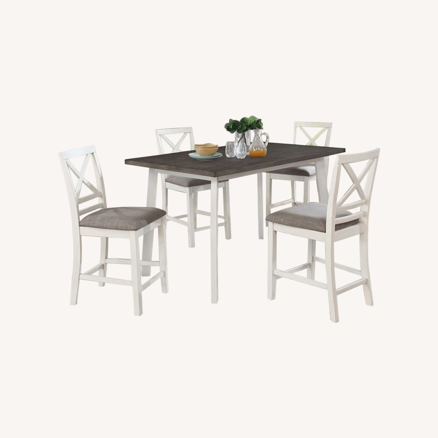Modern 5-Piece Dining Set In Dark Truffle Finish - image-5