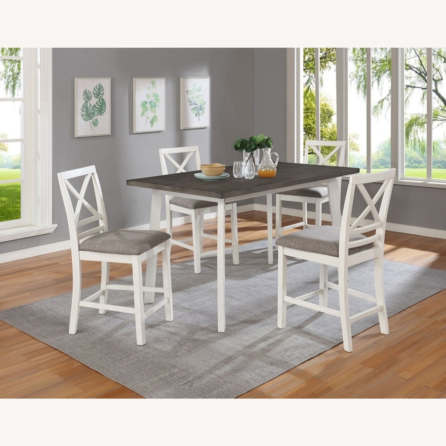 Modern 5-Piece Dining Set In Dark Truffle Finish - image-4