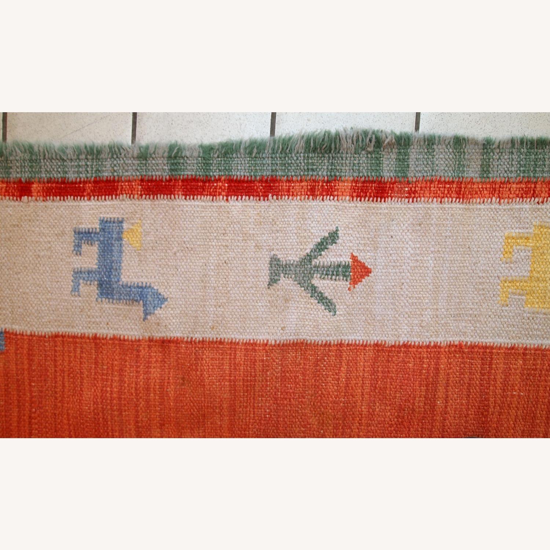 Handmade Vintage Persian Gabbeh Kilim - image-5