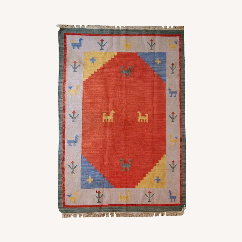 Handmade Vintage Persian Gabbeh Kilim - image-0
