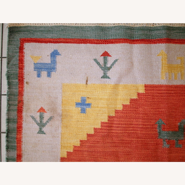 Handmade Vintage Persian Gabbeh Kilim - image-17