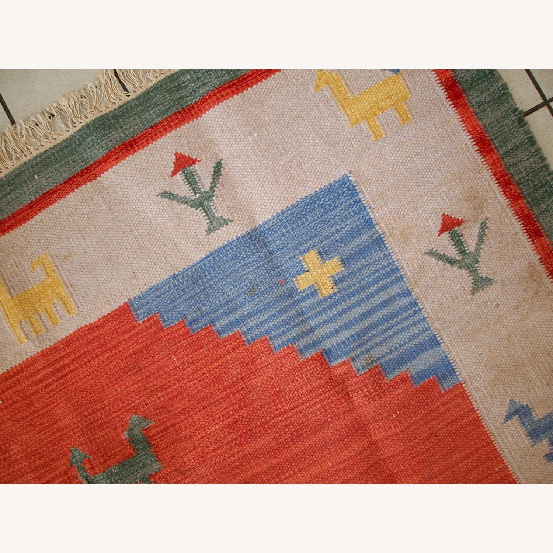 Handmade Vintage Persian Gabbeh Kilim - image-3