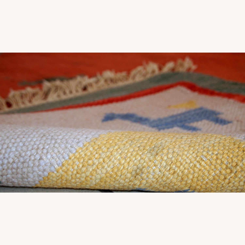 Handmade Vintage Persian Gabbeh Kilim - image-4