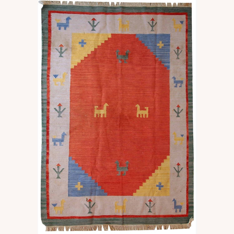 Handmade Vintage Persian Gabbeh Kilim - image-1