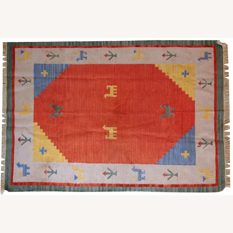 Handmade Vintage Persian Gabbeh Kilim - image-6