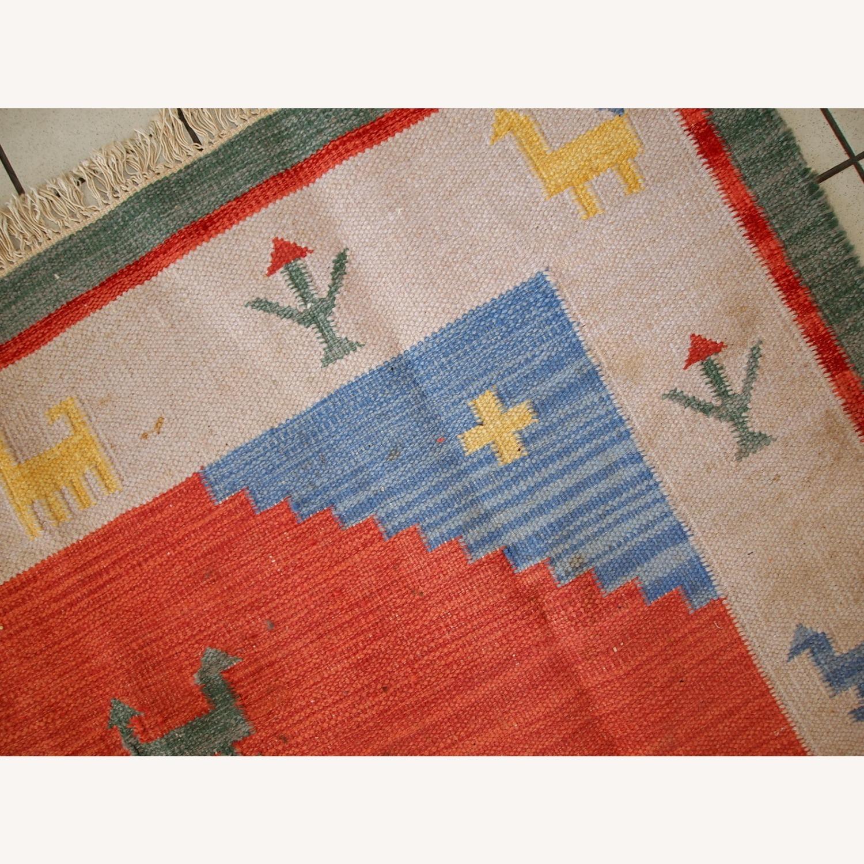 Handmade Vintage Persian Gabbeh Kilim - image-13