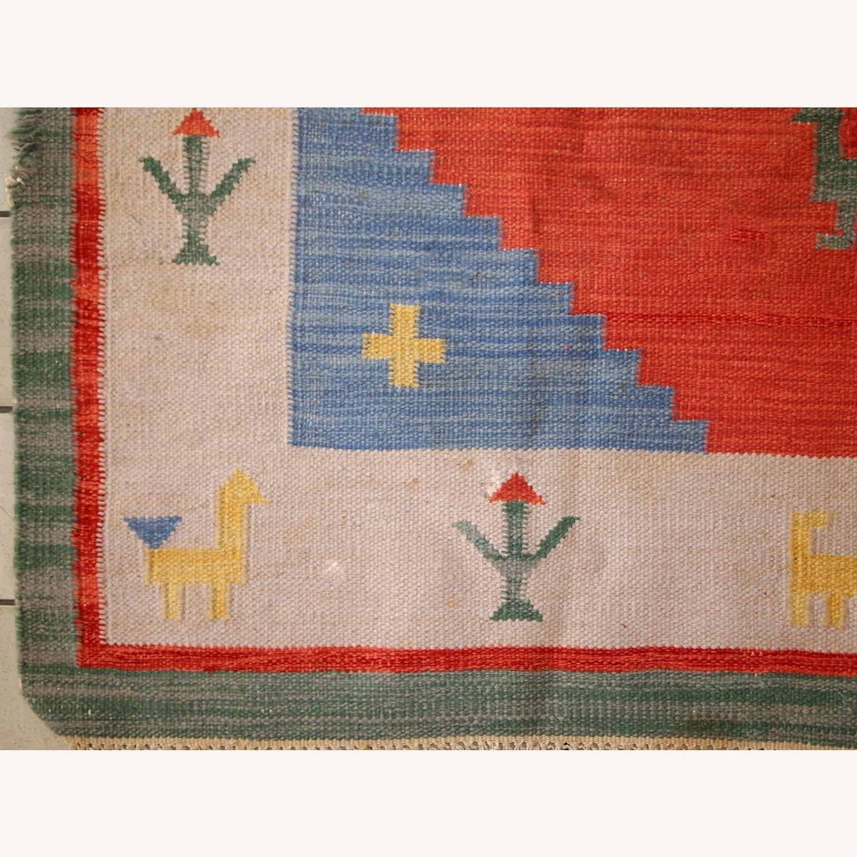 Handmade Vintage Persian Gabbeh Kilim - image-12