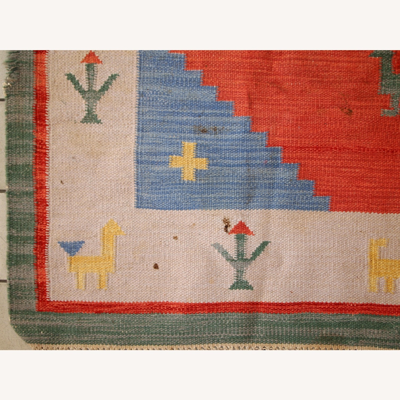 Handmade Vintage Persian Gabbeh Kilim - image-11