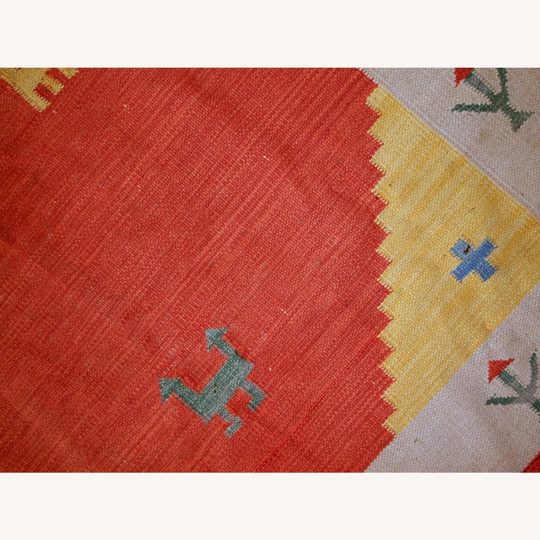 Handmade Vintage Persian Gabbeh Kilim - image-9