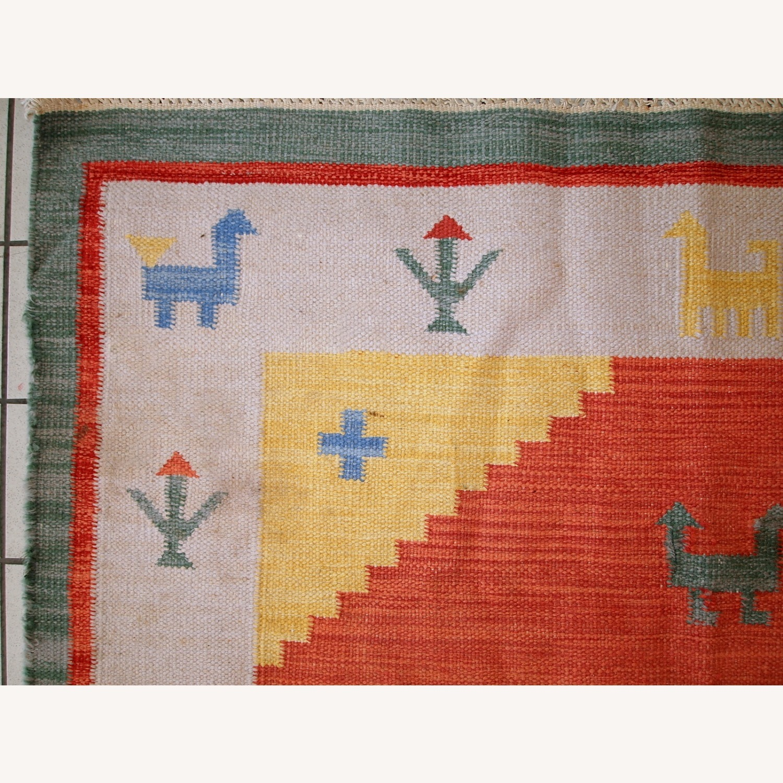 Handmade Vintage Persian Gabbeh Kilim - image-2