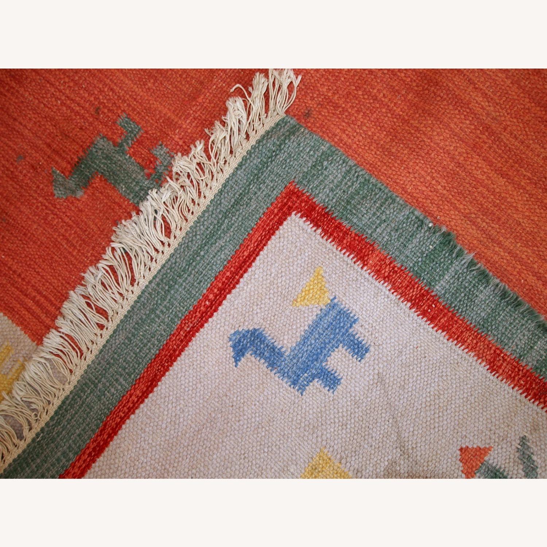 Handmade Vintage Persian Gabbeh Kilim - image-8