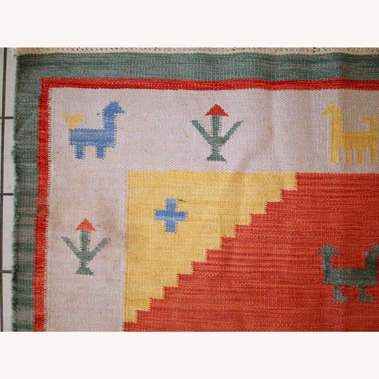 Handmade Vintage Persian Gabbeh Kilim - image-7