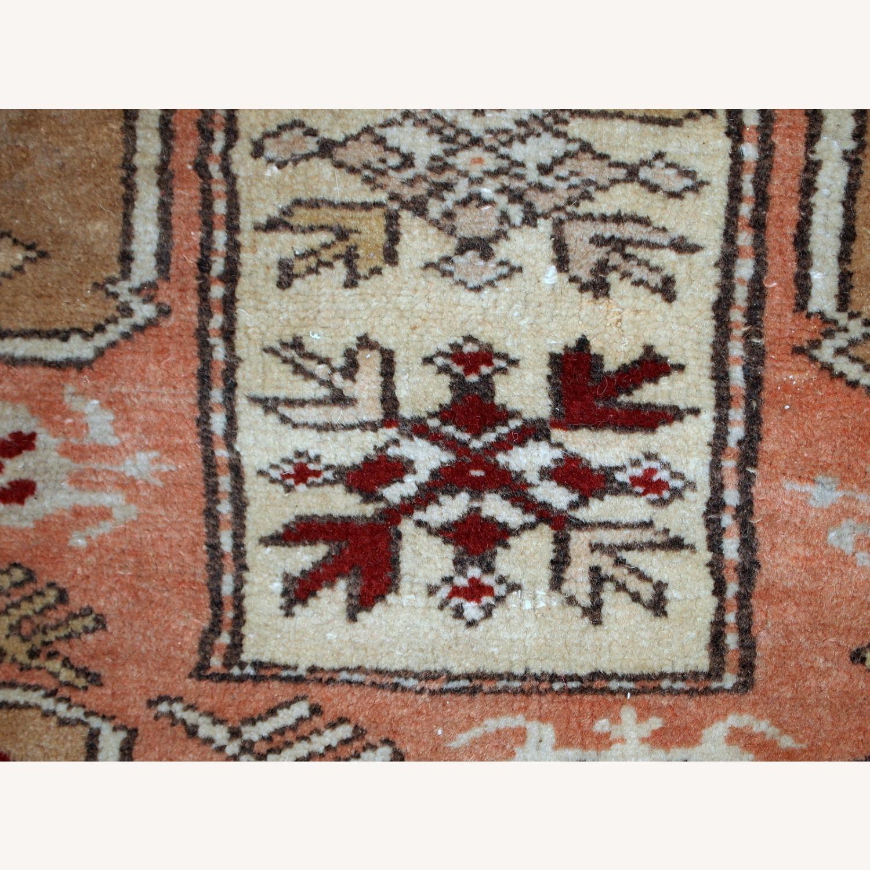 Handmade vintage Turkish Oushak runner - image-6