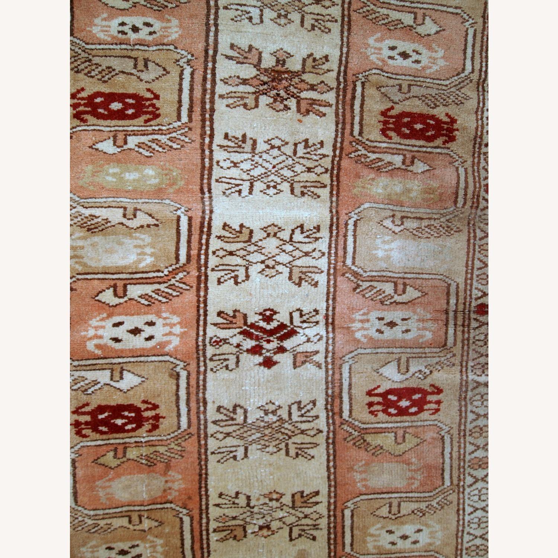 Handmade vintage Turkish Oushak runner - image-10