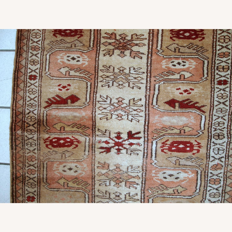 Handmade vintage Turkish Oushak runner - image-7