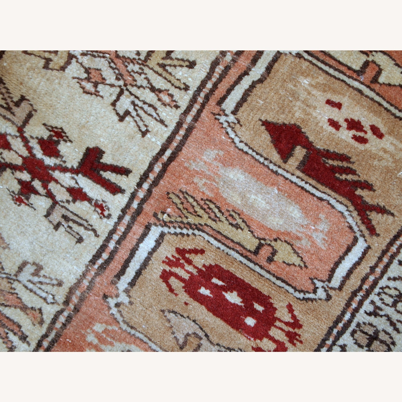 Handmade vintage Turkish Oushak runner - image-5