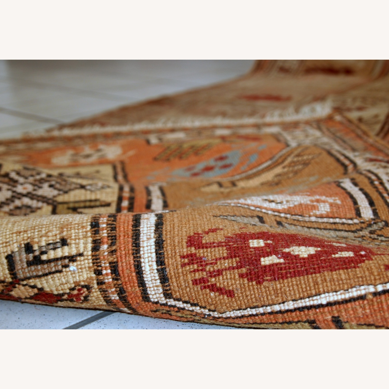 Handmade vintage Turkish Oushak runner - image-2