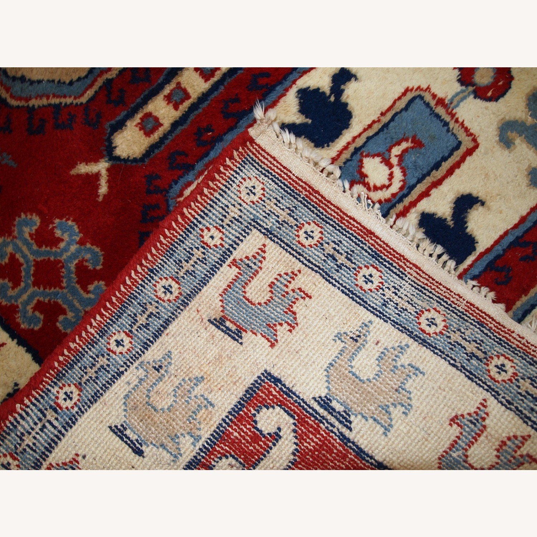 Handmade vintage Caucasian Kazak rug - image-3