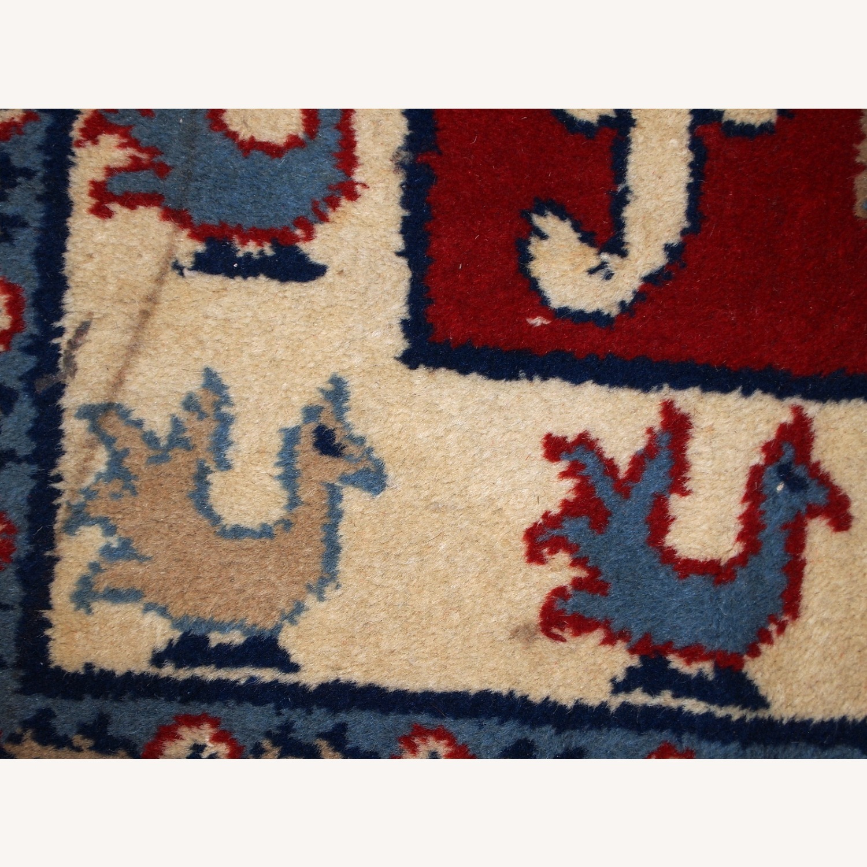 Handmade vintage Caucasian Kazak rug - image-4