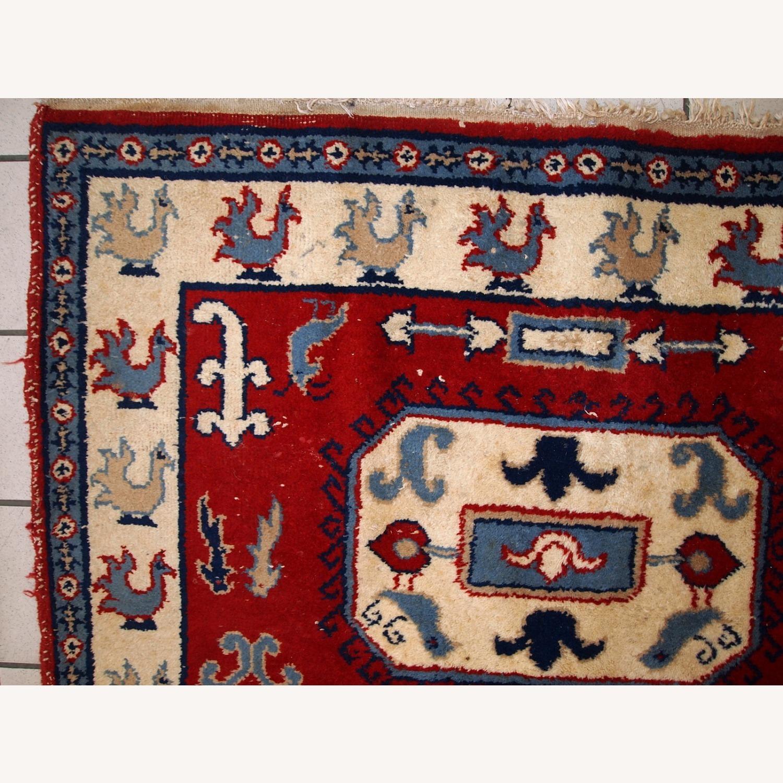 Handmade vintage Caucasian Kazak rug - image-7